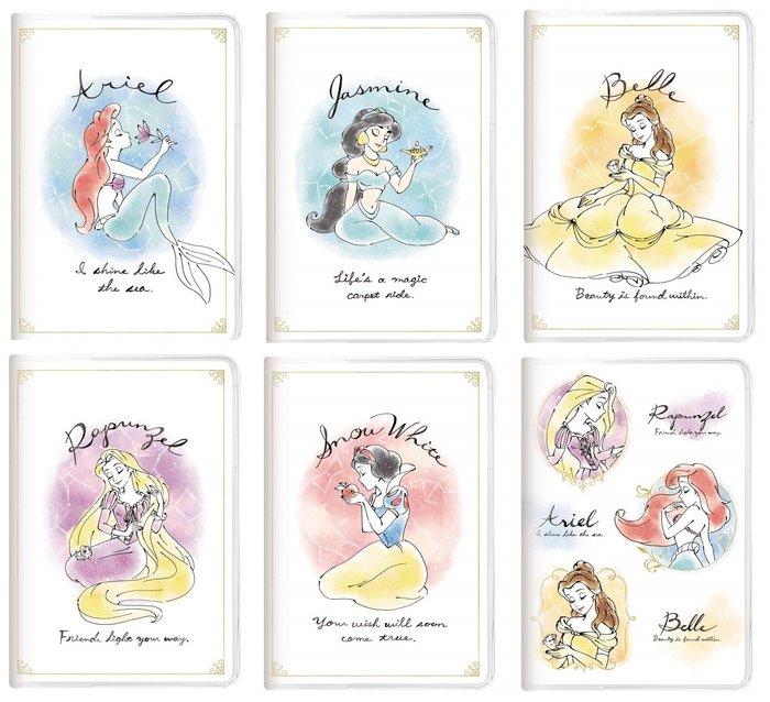 迪士尼DISNEY《預購》水彩風公主系列 2020行事曆/日誌本/手帳B6~愛麗兒茉莉貝兒樂佩~日本製~共6款~心心小舖