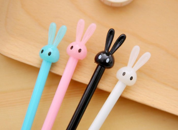 【夜市王】糖果長耳兔中性筆1支 9元
