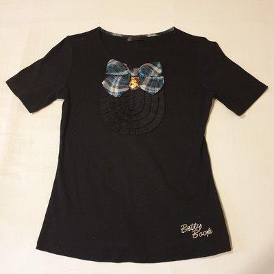 [二手] 專櫃 Betty Boop 貝蒂 經典蝴蝶結領短袖上衣