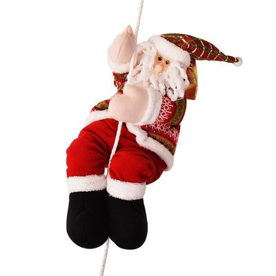 好物多商城 爬梯圣誕老人掛件 圣誕節裝飾配件節日商場酒店ktv布置用品