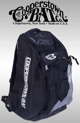 新莊新太陽 Cooperstown Bats CB 酷伯 多功能 棒壘 裝備袋 後背包 黑 可放球棒 特2300