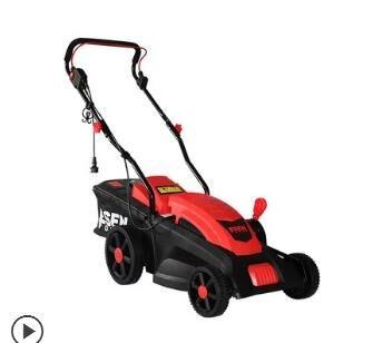 手推式家用割草機電動小型除草機插電式草坪機修剪園林打草機igo
