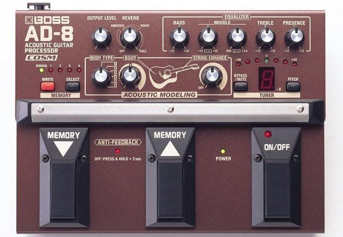 ☆ 唐尼樂器︵☆全新 BOSS AD-8 AD8 民謠吉他 Preamp 前級放大效果器