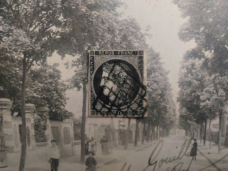法國 1849年(首套郵票第一枚)谷神星 RÉPUBLIQUE. 1849. CERES. 20c noir (穀神星)