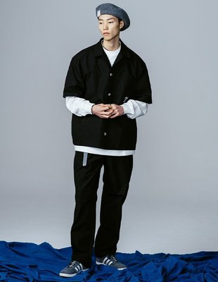 TSU真品代購 FONCTION CUBAN COLLAR SHIRT 復古硬挺寬鬆古巴領純色短袖襯衫