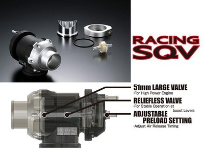 =1號倉庫= HKS Racing SQV 最新款 51mm 通用型 渦輪 各車系