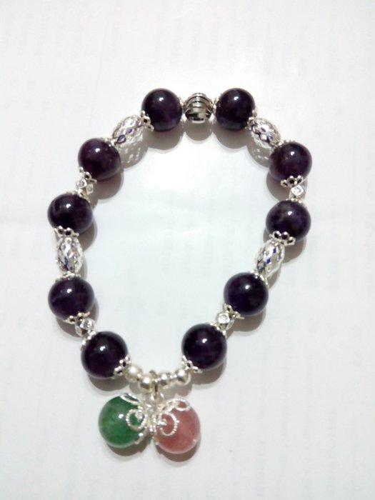 【九龍藝品】設計款水晶手珠 ~ 彈性線,珠子約10mm (9)