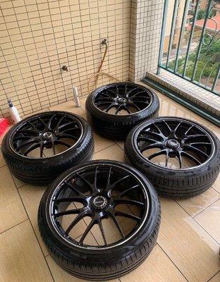 【YGAUTO】二手時間 RAYS 日本 正品鍛造 G27 二手 21 吋 5/112 前後 9J ET25 含倍耐力胎