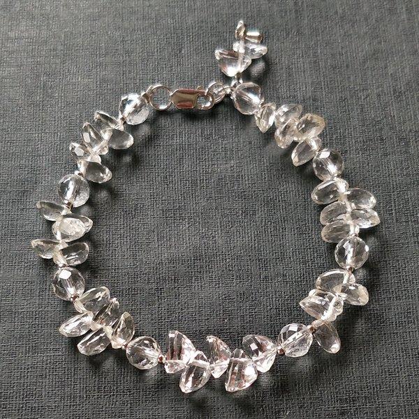 ☆采鑫天然寶石☆ **冰晶**~頂級天然白水晶手鍊~珠寶級晶亮珠寶戒面款~珍藏