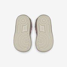 NIKE FORCE 1 SE 淺藍 粉 運動 休閒鞋 中童鞋 低筒 絨毛 AR1134-001-600
