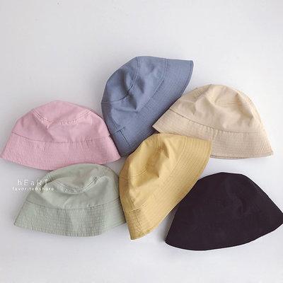 【媽媽倉庫】 馬卡龍色遮陽水桶帽漁夫帽 童帽 防曬