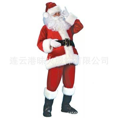 速賣通爆款聖誕老人服裝歐美聖誕節大碼聖誕服十件套裝遊戲服批發-(190)