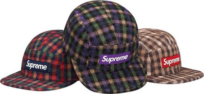 (TORRENT) 2015 秋冬 Supreme Wool Plaid Camp Cap 五分帽 羊毛