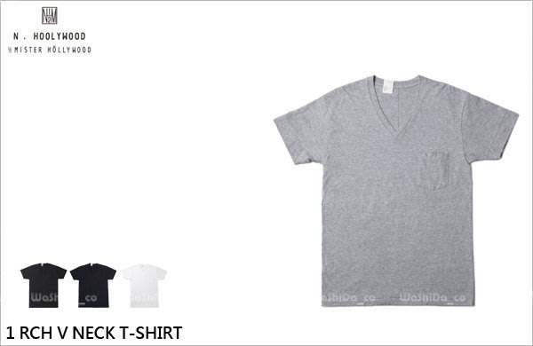 WaShiDa PLUS+【 N.HOLLYWOOD 棉質 1 RCH V NECK T-SHIRT 口袋 V領 T恤】