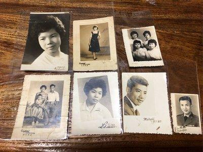 約40年代台灣攝影店原版照片7張特價1500元