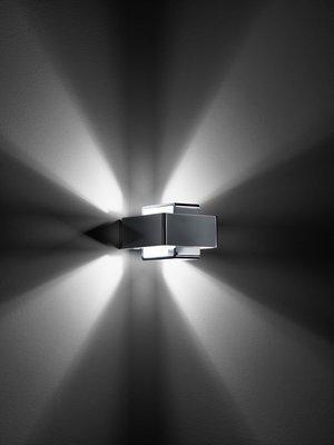 《Topluxurydesign》歐洲原裝進口 Fabbian Bijou 壁燈 - 4 道光束版(鉻色燈身)