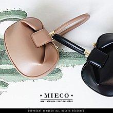 【Mieco】法式復古 真皮Nina Bag小巧手提球形餛飩包。nude 小闆娘 room4 kiito