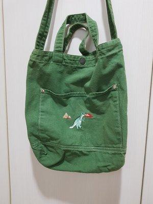 轉賣設計師品牌washing marchine vocation綠色布包Canvas Crossbody Bag