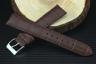 20mm 18mm 咖啡色防水進口皮料,啞光高質感替代oris ck armani seiko原廠錶帶真皮製錶帶