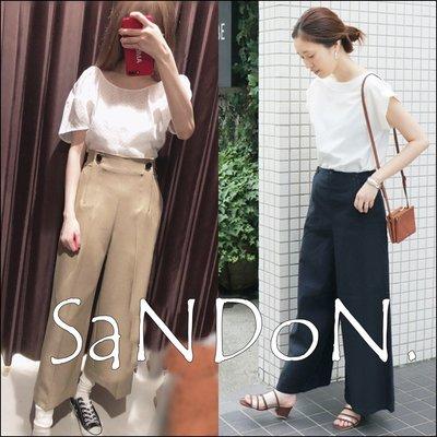 SaNDoN x『SLOBE IENA』自留大推薦款 法式風格鈕扣設計清爽高腰寬褲 180615