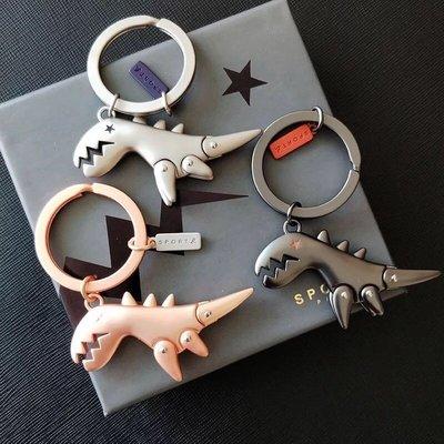 日本 17✨ agnes.b 〰❤️美品。可愛精緻 小恐龍 鑰匙圈。三色 。附盒子