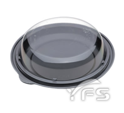 RDC-8食品盒(大) (底PS/蓋OPS) (提拉米蘇/奶油蛋糕/海綿蛋糕/圓形蛋糕盒)