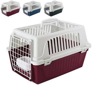 【優比寵物】義大利飛寶ferplast 雅特(標準天窗ATLAS Open 30型)運輸籠/提籠/寵物籠/手提籠/外出籠