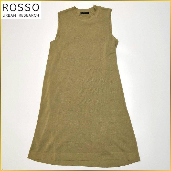 日本二手衣✈️URBAN RESEARCH Rosso 無袖洋裝 及膝 連身洋裝 寬鬆 連衣裙 淺綠系 A32F2R
