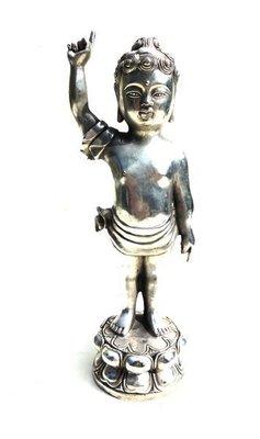 【山沽居】釋迦摩尼佛 誕生 唯我獨尊 白銀