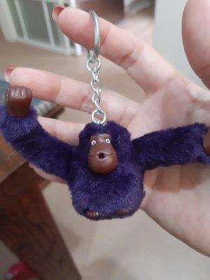 凱莉代購 Kipling 中號 紫藍 毛絨猴子 猩猩 掛飾 吊飾 鑰匙圈 現貨