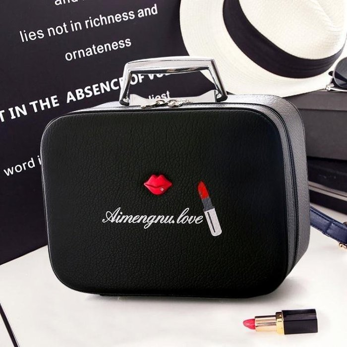 YEAHSHOP 化妝包大容量簡約韓國化妝品收納旅行迷你手提可愛便攜小號化妝箱Y185