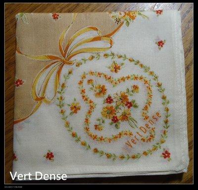 *salena9804* 日本雜貨 名牌手帕   Vert Dense   no.60-32