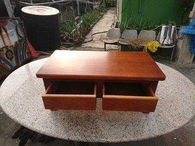 B018 {崙頂傳統原木家具行}~鐵杉木實木合式雙抽屜小桌   有現貨可直接下標