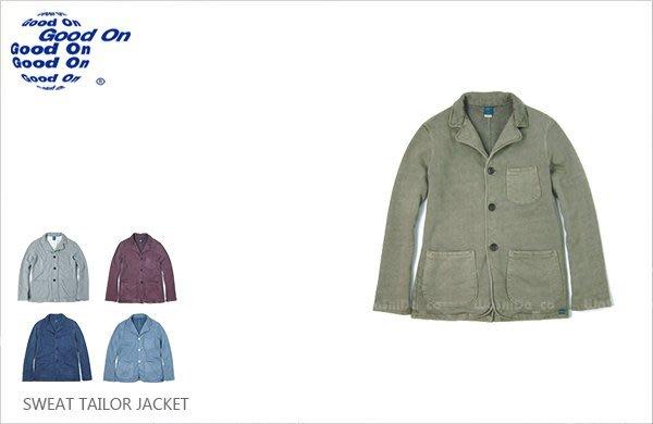 WaShiDa【gobw1303p】Good On 日本品牌 後染 無墊肩 棉質 針織布 IVY 深藍 三顆扣 西裝外套