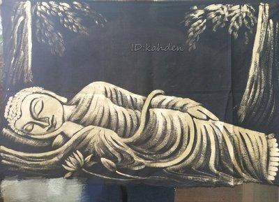 甘丹文物  佛陀涅槃像 手繪