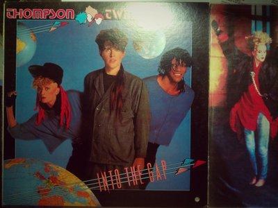 Thompson Twins 1984 Into The Gap 台版上揚黑膠唱片。封面打洞 有歌詞