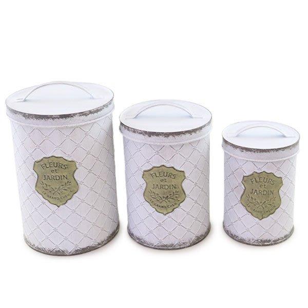 《齊洛瓦鄉村風雜貨》日本zakka雜貨 復古仿舊刷白花器 收納桶 垃圾桶 桌上型收納桶 多功能收納桶 居家收納必備 M