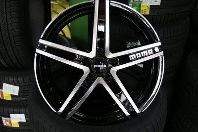 超級輪胎王~全新式樣MOMO鋁圈~RS12~18吋~5X112~5X114~5X108~黑底車亮面~[直購價7000]