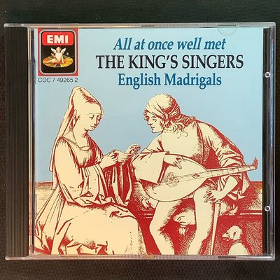 The King's Singers國王歌手合唱團/All at once well met英國牧歌集 英國版無ifpi