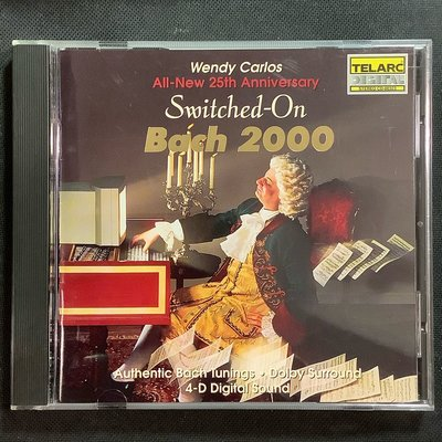 電擎巴哈2000年Switched-On Bach 2000 Wendy Carlos溫蒂卡洛斯 美國凸字版無ifpi