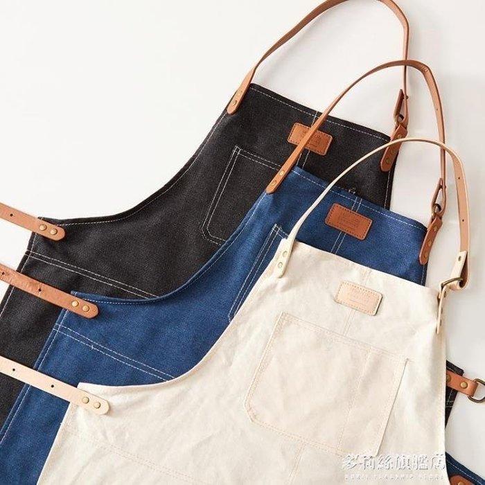 麥麥部落 圍裙防水防油廚房圍裙百搭創意個性圍裙居居家用圍腰MB9D8