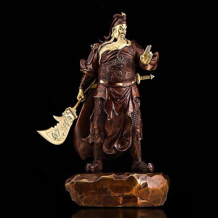 【睿智精品】關公神像 關聖帝君 義薄雲天 正氣凜然 關雲長 銅製(GA-5122)