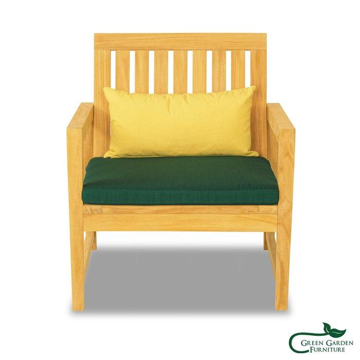 杜拜 柚木單人沙發椅(原色)【大綠地家具】100%印尼柚木實木/無上漆原木款/實木沙發