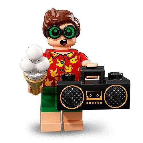 現貨【LEGO 樂高】2018最新 蝙蝠俠電影2 人偶包抽抽樂 人偶系列 71020 | #8 度假羅賓+收音機+冰淇淋