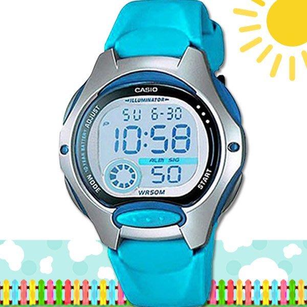 CASIO 時計屋 卡西歐手錶 LW-200-2B 數字錶 兒童錶 球面玻璃 保固 附發票