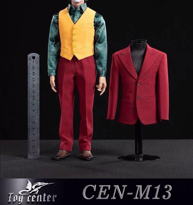 James room# 12寸Toy center 1/6 CEN-M13 DC反派 2019小丑專屬 紅西服套裝 含皮鞋 不含人偶