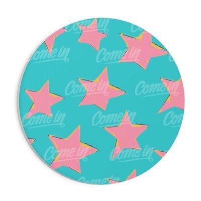 ♥ Killeez ♥ 客製化 化 巴戈 柯基 海洋星星 碎花 可訂製 正方形 圓形 吸水杯墊 馬克杯 婚禮小物
