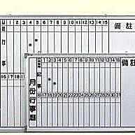 【傢俱城】月份磁性白板-直式124-44