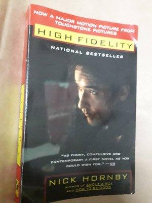 (下標即結標)Nick Hornby-High Fidelity失戀排行榜(英文版,電影書衣版)