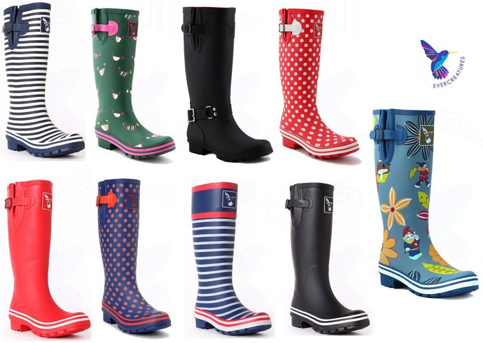 SEYES 英國品牌Evercreatures彩色長筒雨靴